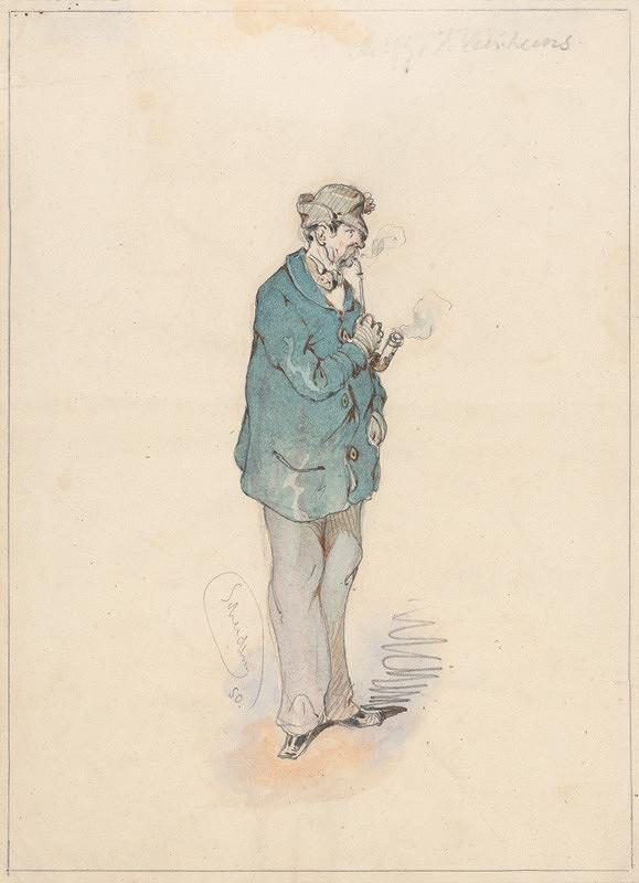 Friedrich Carl von Scheidlin – Man with a Pipe