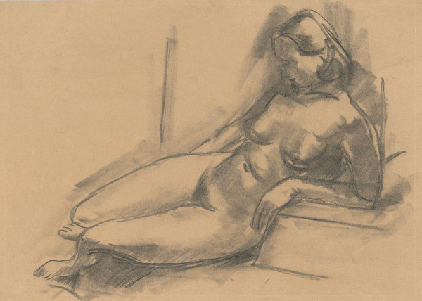 Eugen Nevan – Nude on a Sofa