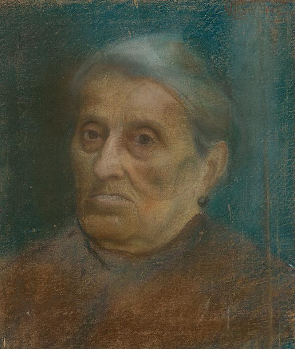 Ladislav Grnáč – Head of an Old Woman