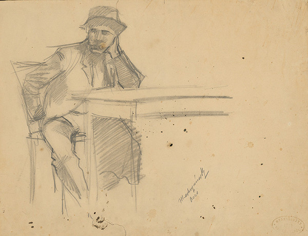 Ladislav Mednyánszky - Study of a Seated Man