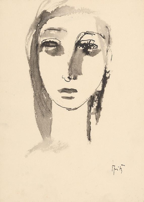 Ernest Špitz - Head of a Girl XI.