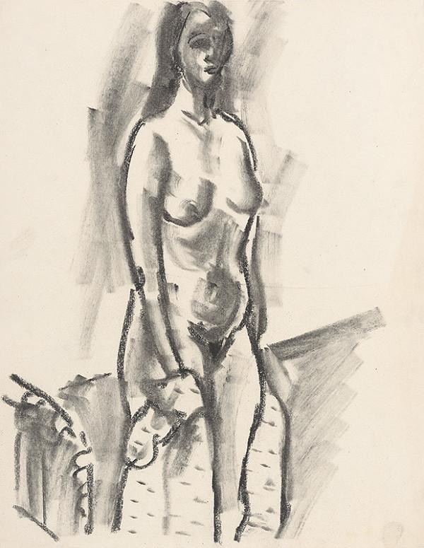 Eugen Nevan – Standing Female Nude
