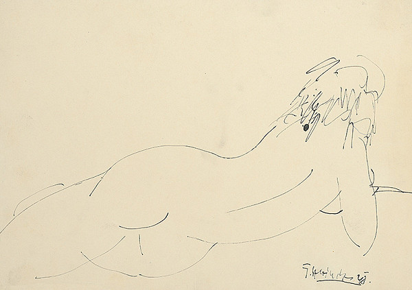Ferdinand Hložník - Nude from the Back