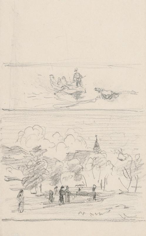 Jan Novopacký – Ferrymen on his Way to Church