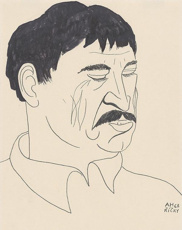 Adolf Hoffmeister – Caricature Portrait of D. Tatarka