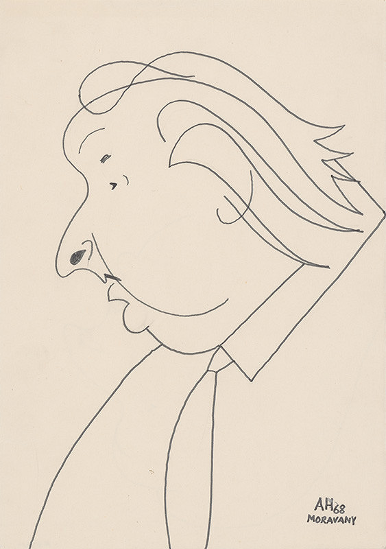 Adolf Hoffmeister – Caricature Drawing of A. Bednár IV.