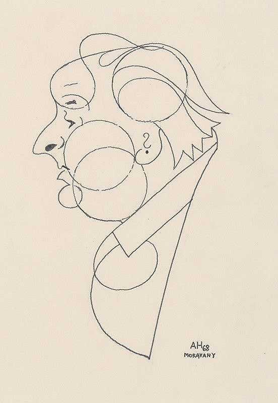 Adolf Hoffmeister – Caricature Drawing of A. Bednár VII.
