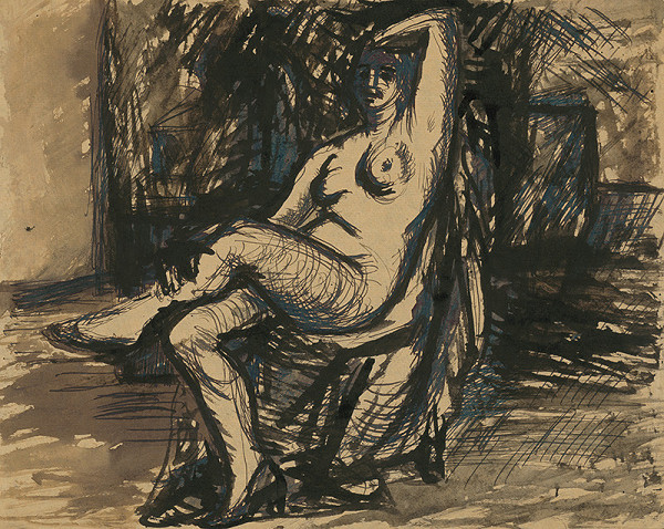 Ján Mudroch - Seated Nude