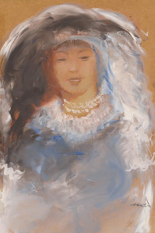 Aurel Kajlich - Woman in Blue
