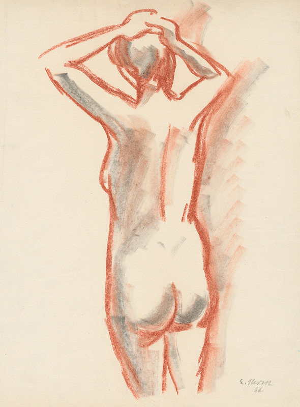 Eugen Nevan – Nude from the Back