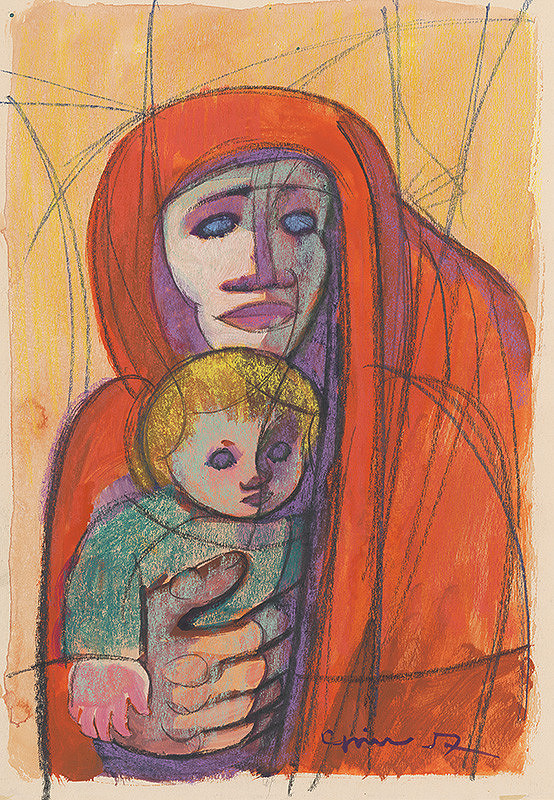 Štefan Cpin – Mother with a Child