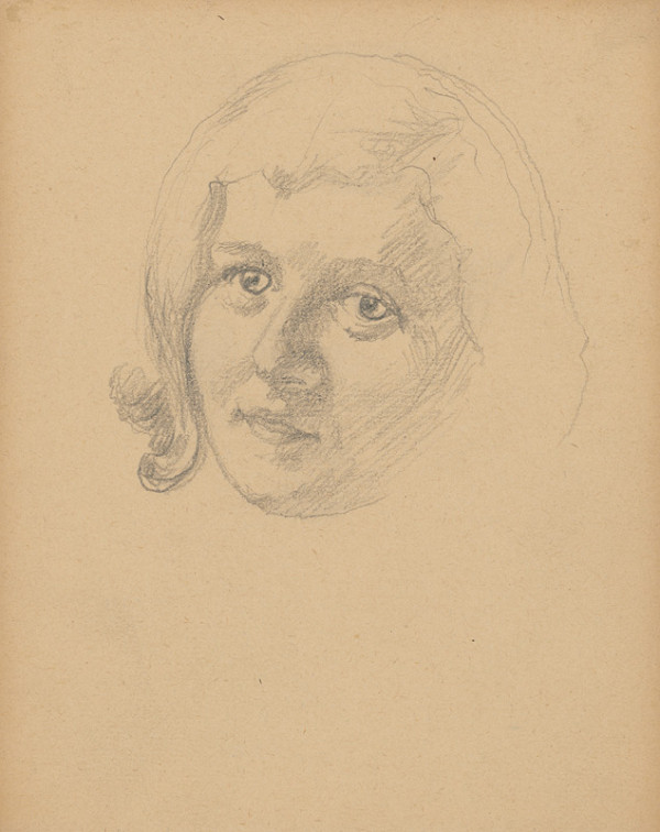 Ivan Žabota – Head Study of a Young Woman 2.