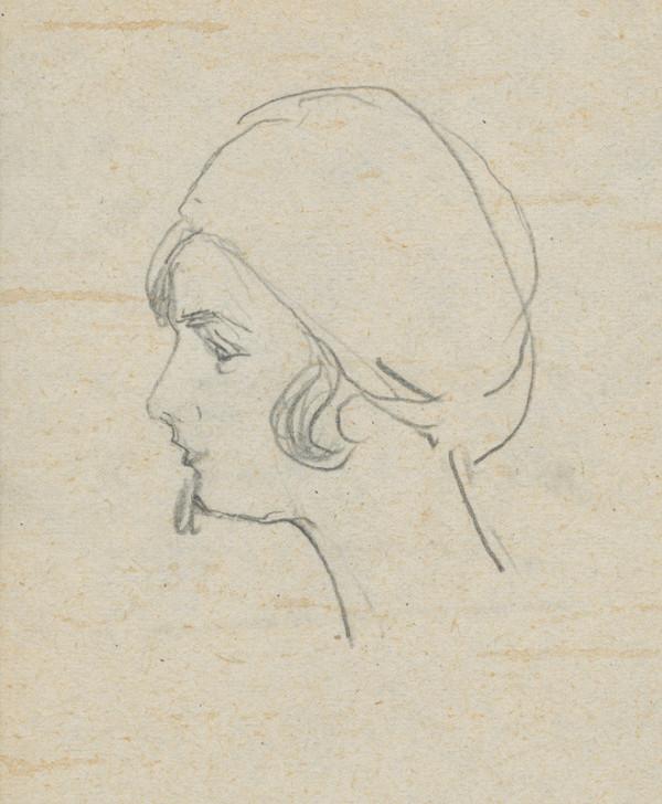 Ivan Žabota – Head Study of a Young Woman 5.