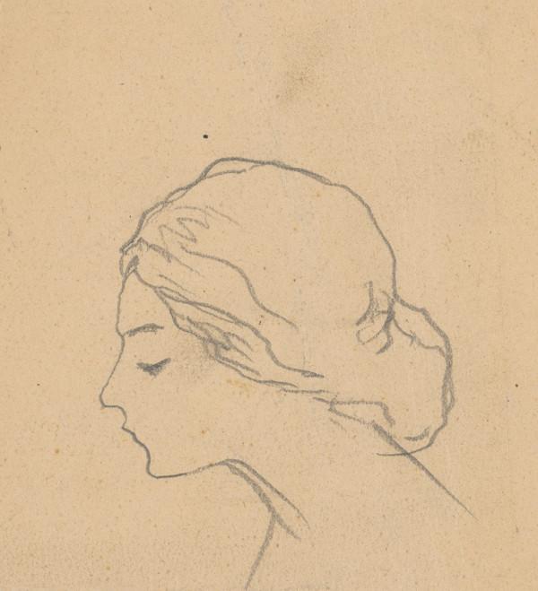 Ivan Žabota – Head Study of a Young Woman 10.