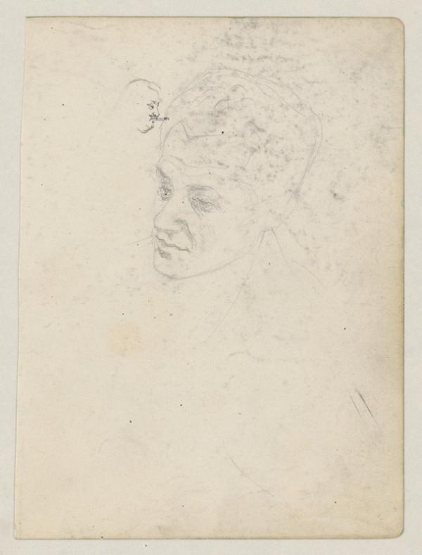 Ivan Žabota – Sketch of a Male Head