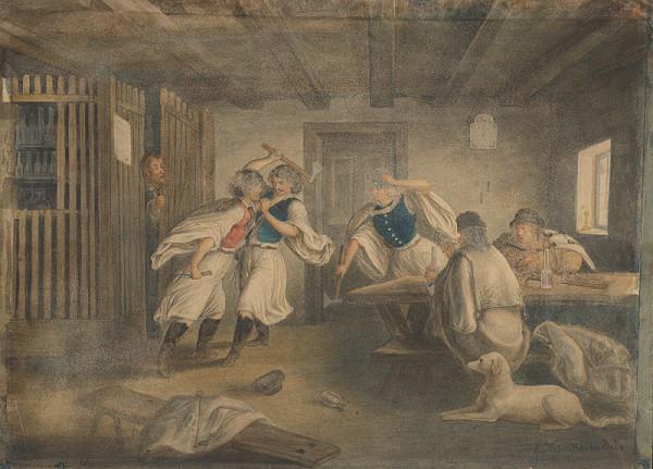 Vojtech Klimkovič – A Brawl in an Inn