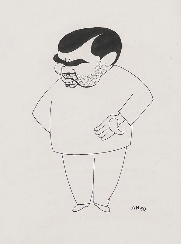 Adolf Hoffmeister – Caricature Drawing of Hajda