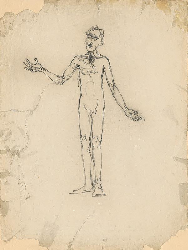 Arnold Peter Weisz-Kubínčan – Standing Male Nude