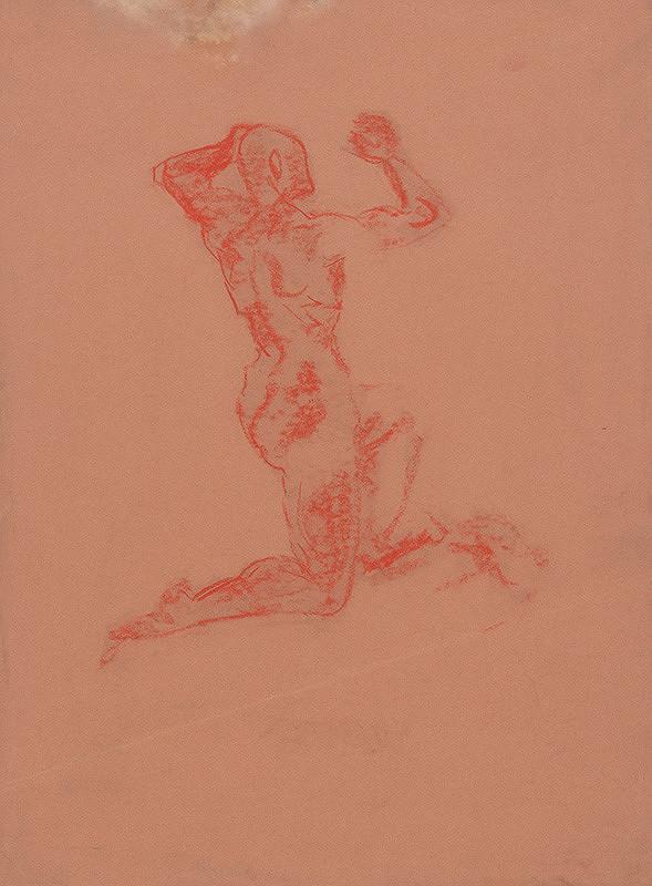 Arnold Peter Weisz-Kubínčan – Kneeling Male Nude