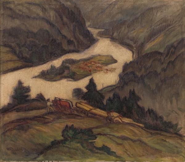 Martin Benka - On the Orava River