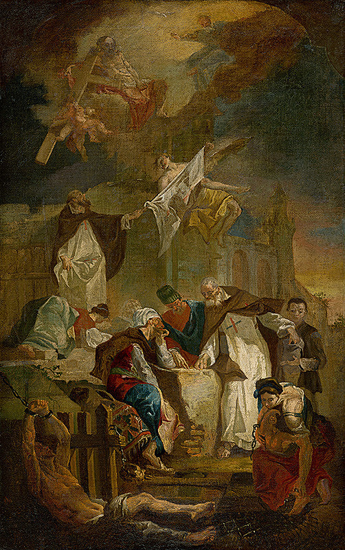 Stredoeurópsky maliar z polovice 18. storočia, Franz Xaver Carl Palko - John of Matha and Felix of Valois Ransoming Christian Slaves