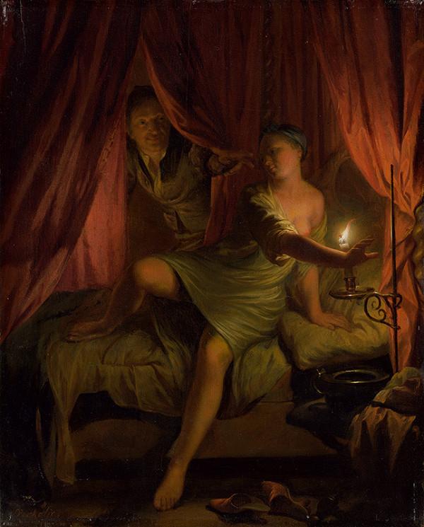 Nicolaas Verkolje – Gyges in the Bedroom of King Candaules' Wife