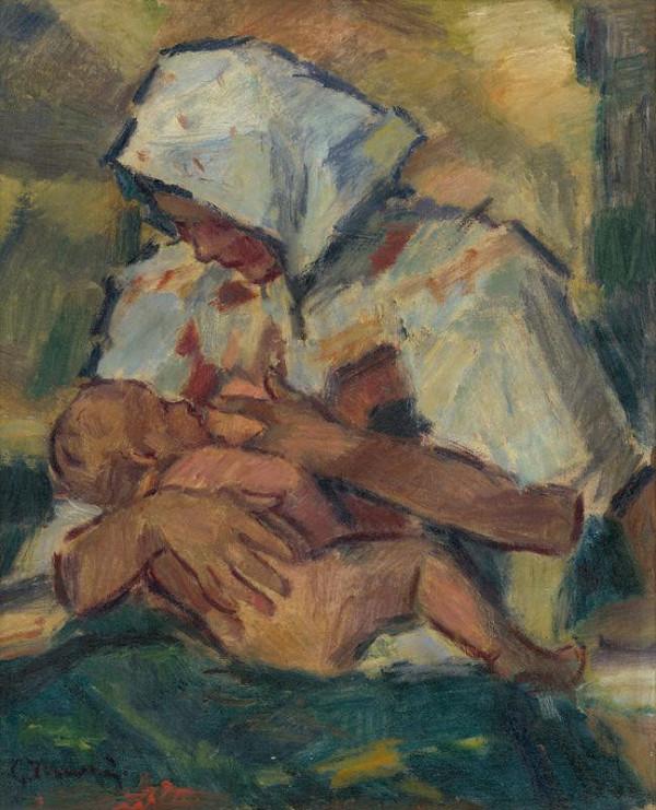 Gustáv Mallý – Breast-Feeding