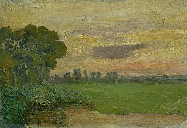 Jozef Hanula – Západ slnka v Kaloči