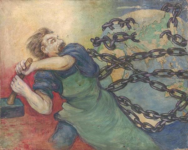 Tomáš Andraškovič – Study for the Poster the Great October Socialist Revolution