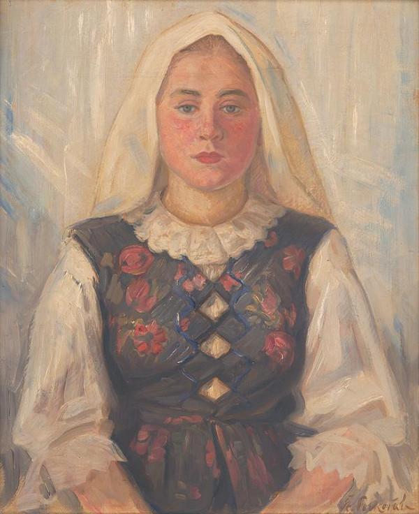 Štefan Polkoráb – Girl in Folk Costume