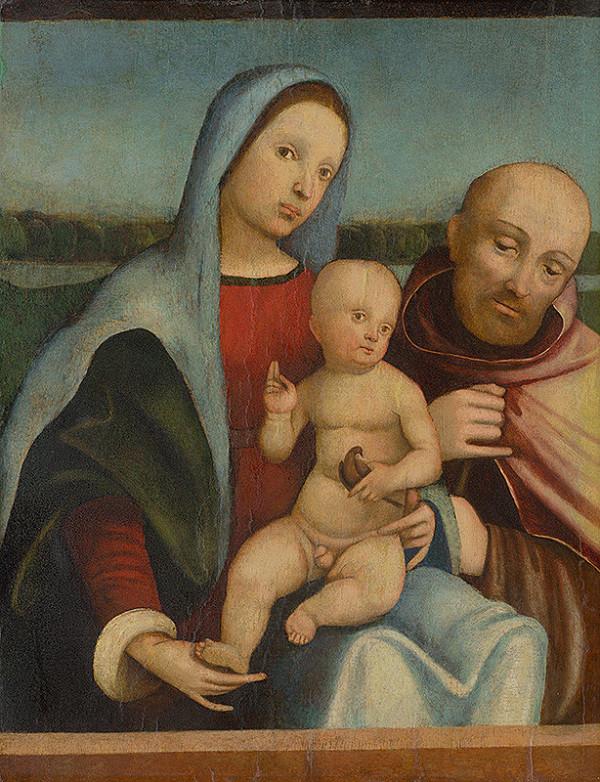 Francesco Francia, Giacomo Francia – Holy Family (Madonna with Child and Saint Francis of Assisi)
