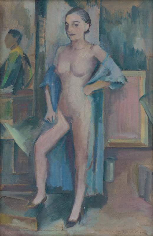 Bedrich Hoffstädter – Study of Female Nude