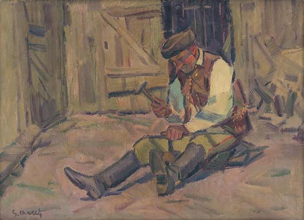 Gustáv Mallý – Study for the Painting Farrier