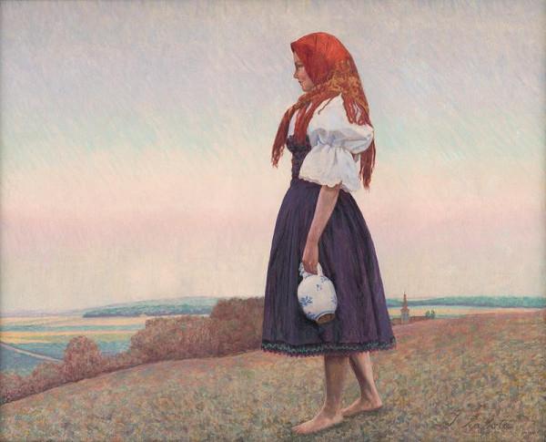 Ivan Žabota – Girl with a Jug