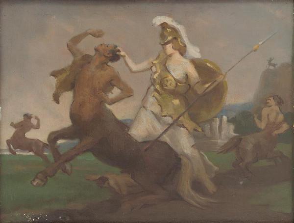 Milan Thomka Mitrovský – Palas Athena in Fight against Centaurs
