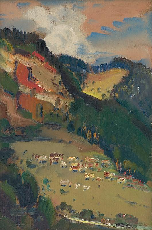 Martin Benka - Landscape from Tisovec