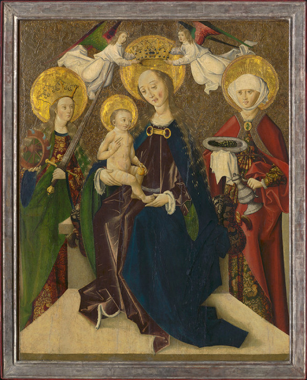 Spišský maliar, Majster Martin – The Madonna Enthroned Between St. Catherine and St. Elizabeth