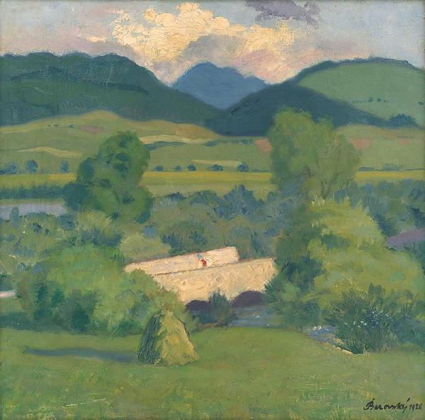 Miloš Alexander Bazovský - Landscape with a Bridge