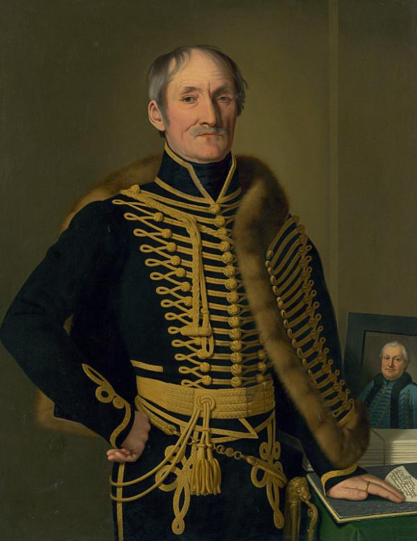 Jozef Czauczik – Administrator of 16 Spiš Towns, Baron Imrich Fischer with a Portrait of Imrich Horváth-Stansith