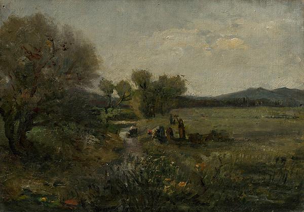 Ladislav Mednyánszky - Women at the Creek