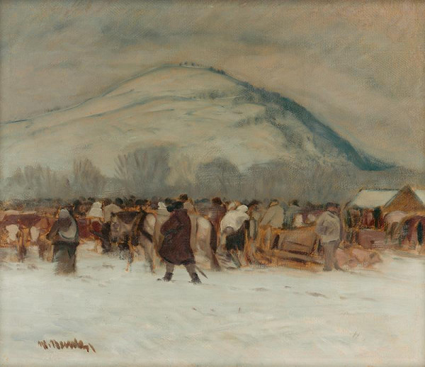 Martin Benka - Winter Landscape