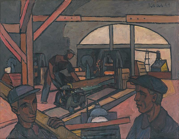 Fero Kráľ - Work at a Sawmill
