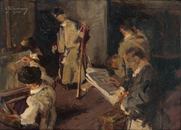 Gustáv Lerchner - In the Atelier