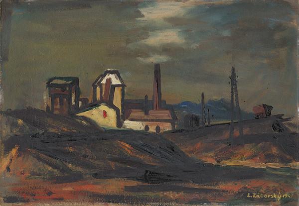 Ladislav Záborský - Landscape with a Factory