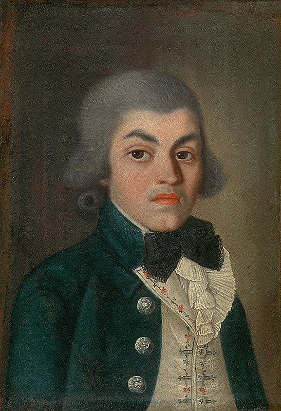 Stredoeurópsky maliar z konca 18. storočia, Viedenský maliar – PORTRAIT OF GENTLEMAN WITH PLEATED JABOT