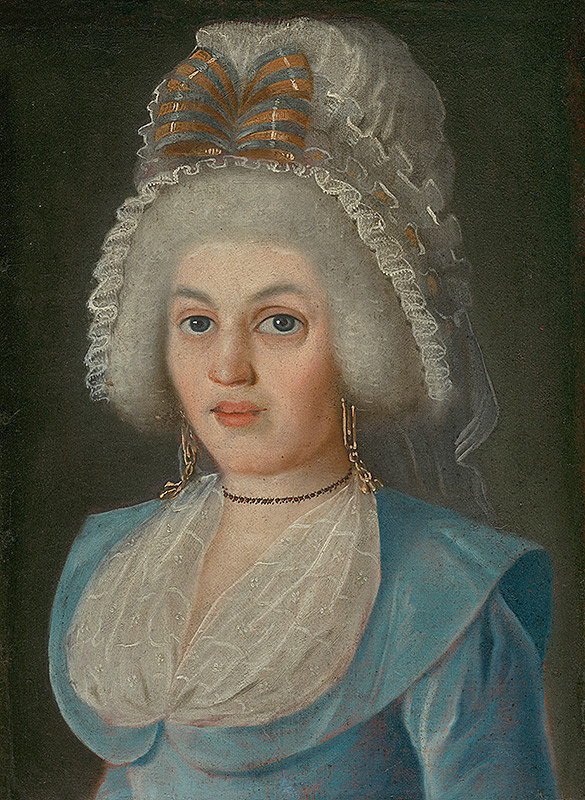 Stredoeurópsky maliar z konca 18. storočia, Viedenský maliar – PORTRAIT OF A LADY IN LACE BONNET