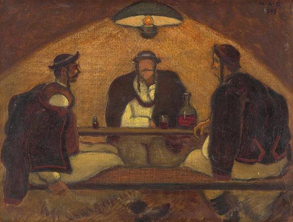 Miloš Alexander Bazovský – Men from Detva - Study for the Painting 'Meeting'