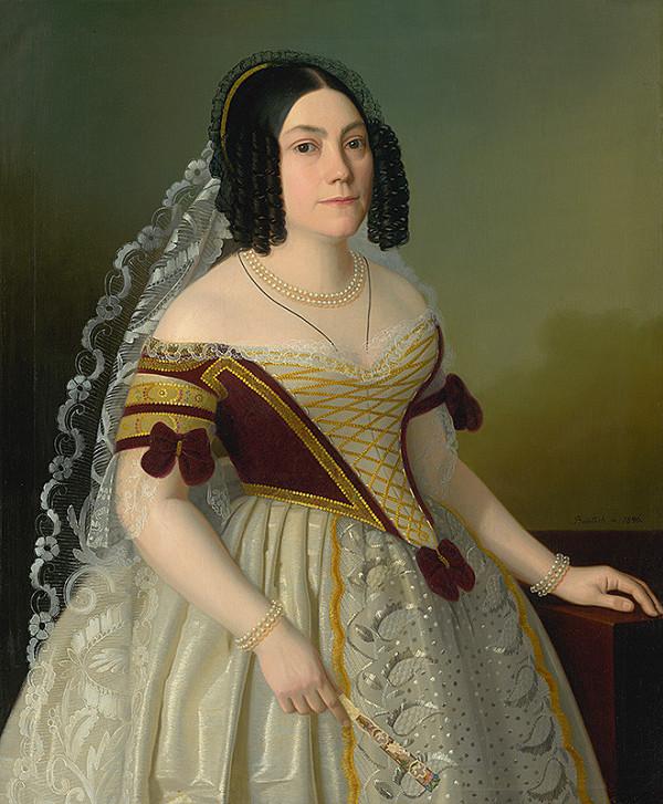 Jozef Božetech Klemens – Portrait of Piroška Radvanská