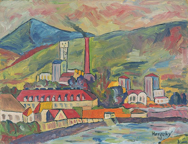 Zdeno Horecký - Landscape with a Factory