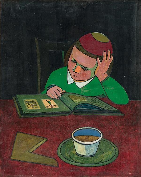 Ladislav Guderna – Little Girl over a Book